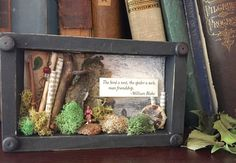 $12, William Blake Shadowbox Art, Small Friendship Gift Shadowbox