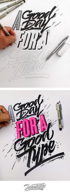 Typography Illustrations Vol.3 on Behance