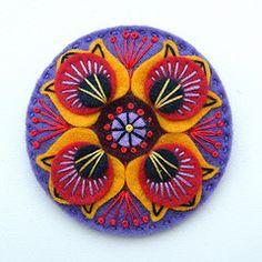 MARRAKESH FELT BROOCH (APPLIQUE-designedbyjane) Tags: pin embroidery brooch felt badge marrakesh corsage applique freeform