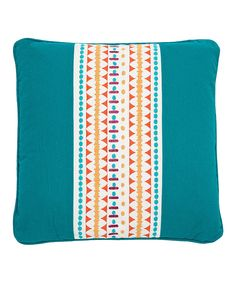 Look at this Teal Ariadne Embroidered Throw Pillow on #zulily today!