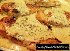 Country French Skillet Chicken   Aunt Bee's Recipes