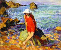 Lebasque, Henri (French, 1865-1937) - Nono au Bord de Mer - s.d. (by *Huismus)    alongtimealone: