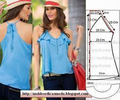 Moldes para hacer blusas de verano para dama06