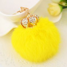 GET $50 NOW | Join RoseGal: Get YOUR $50 NOW!http://www.rosegal.com/keyring/rhinestone-crown-fuzzy-ball-keychain-983253.html?seid=2275071rg983253