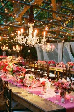 refined rustic wedding decor / http://www.deerpearlflowers.com/romantic-wedding-lightning-ideas/2/