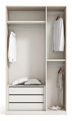 Interior Armario - Catálogo Creta Basic www.exojo.com #cretabasic #armarios #masterbedroom #deco #dormitorio #vestidor #grupoexojo
