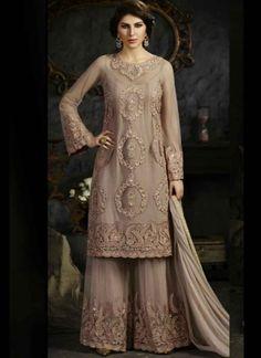 Graceful Grey Embroidery Work Net Pakistani Wedding Suit http://www.angelnx.com/Salwar-Kameez/Pakistani-Suits