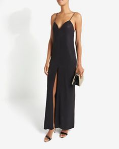 L'Agence Spaghetti Strap Gown