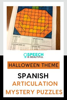 Bring some fun to your speech therapy sessions with this halloween themed fun articulation activity in Spanish! Perfect for bilingual students practicing articulation in Spanish. - Speech is Beautiful Halloween Speech Therapy Activities, Speech Therapy Themes, Therapy Games, Speech Activities, Vocabulary Activities, Spanish Activities, Holiday Activities, Therapy Ideas, French Lessons