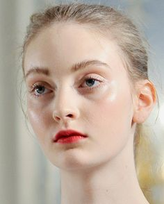 codie young // erdem fw (via Samantha Kong) (that skin!)