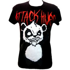 Killer Panda Attack Hugs Ladies T-Shirt | Gothic Clothing | Emo clothing | Alternative clothing | Punk clothing - Chaotic Clothing, found on polyvore.com