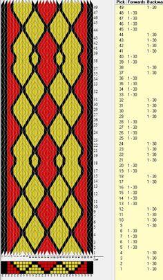 30 tarjetas, 3 colores, secuencia 4B-4F-4B-4F-2B-2F // sed_362 diseñado en GTT༺❁