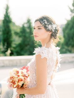 A Luxurious Mediterranean Destination Wedding In Greece With Plenty Of Minimalist, Fine Art Bridal Inspiration Bride Portrait, Wedding Portraits, Fresh Makeup Look, Mediterranean Wedding, Modern Wedding Inspiration, Style Inspiration, Greece Wedding, Once Wed, Elegant Bride