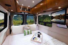 Leisure Travel Vans - Free Spirit - Photo Gallerylave dinettte made up into queen bed...