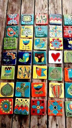 Handmade ceramic tiles ceramicart ceramic art handmade - Her Crochet Ceramic Tile Art, Clay Tiles, Ceramic Painting, Mosaic Art, Ceramic Pottery, Ceramics Tile, Porcelain Tile, Art Tiles, Talavera Pottery