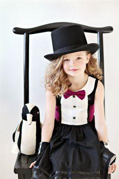Custom Girls Tuxedo Dress... The AUDREY in sizes 2T through 12. $85.00, via Etsy.