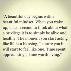 Let's make this a Beautiful Monday ...