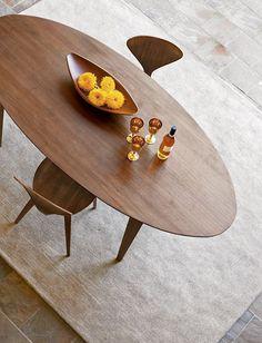 "Churner® 84"" Oval Table, DWR $2,900 [idea for BKF nook] I like the shape 84'' x 38'')"