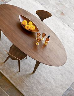 "Churner® 84"" Oval Table, DWR $2,900 [idea for BKF nook] I like the shape 84'' x 38'')"