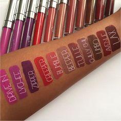 #Colourpop Ultra Matte Liquid Lipstick swatches finally on a deeper skintone! #colourpopavenue #colourpopchillychili #chillychili