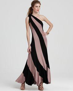 Trina Turk One Shoulder Maxi Dress - Color Block Rowena | Bloomingdale's