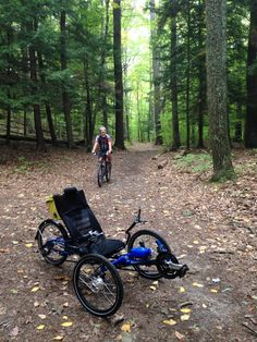 Hit the trails at Chenango Valley State Park with my new Ice Adventure trike today.  It was beautiful in the woods...