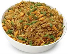 Schezwan Fried Rice A delicious Indo-Chinese dish. Serve hot with raita, ketchup or gravy of choice.