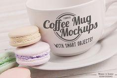7 Coffee Cups Logo Mockups! by Amy J. Coe on Creative Market