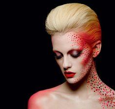 Christina Lutz Makeup Artist   Beauty   Photography #editorial #redlips #dots