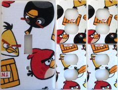 Angry Bird Cartoon Characters Light Switch Plate Cover Outlet