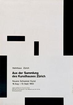 """Aus der Sammlungg"". Josef Muller-Brockmann, 1953"