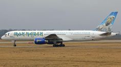 """Astraeus Airlines.  In 2008, the heavy metal band Iron Maiden commissioned an Astraeus 757 as transport for their """"Somewhere Back in Time Tour."""" Painted in Iron Maiden livery, the plane was flown by lead singer Bruce Dickinson, who was an actual Astraeus Captain and was also Astraeus's Marketing Director. Astraeus, a British airline that was based at Astraeus House in Crawley, West Sussex, England, ceased operations in 2011."""