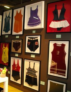 Framing swimsuits or other vintage pieces of clothing!