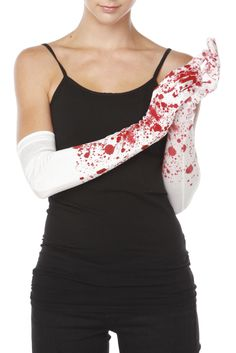 Bloody White Long Gloves- clue/spy themed homecoming?