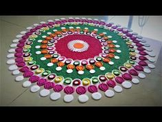 Beautiful and Creative Multicolored Rangoli Designs.Easy Rangoli by Shital Mahajan. - YouTube
