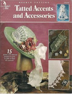 Tatting books needle tatting tatted projects by FrazzledThreads, $9.00