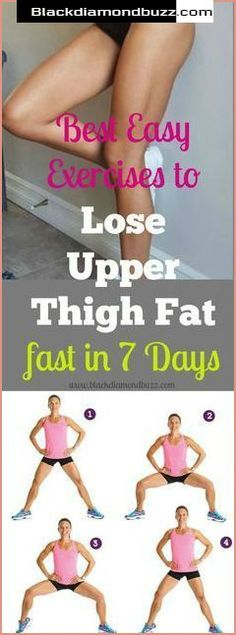 Best exercises to lose upper thigh fat fast in 7 days at home + Weight loss tips to get rid of legs fat, lower body fat, and get toned legs. #fitness #health #thigh