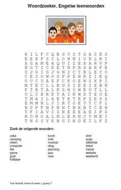 Woordzoeker sluit aan bij thema 8 (Taal Actief) van groep 7. Spelling, Word Search, Puzzle, Words, English, Occupational Therapist, Puzzles, English Language, Horse