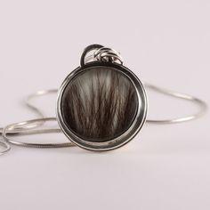 horse hair resin jewelry | Hair in Resin Pendant