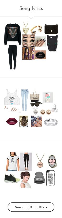 """""""Song lyrics"""" by abskers ❤ liked on Polyvore featuring County Of Milan, Cartier, Valentino, STELLA McCARTNEY, J Brand, adidas Originals, TOMS, Raen Optics, Pandora and Ruifier"""