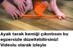 Ayak kemik çıkıntısı için egzersiz