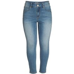 Plus Size Women's Seven7 Stone Detail Skinny Jeans ($89) ❤ liked on Polyvore featuring jeans, blue star jeans, embellished jeans, blue jeans, plus size skinny jeans and faded skinny jeans