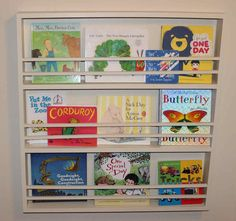 BusyBliss: DIY Children's Bookshelf - Book Covers Showing!