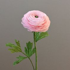 Crepe Paper Ranunculus, Single Stem - Wedding Flowers - Home/Office Decor…