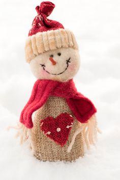 homemade christmas gift DIY. Snowman