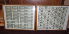 Uncut sheets of One Dollar and 1996 Five by OHANCollectibles