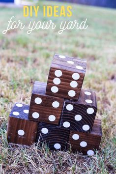 Tons of project ideas for your backyard and exterior! #curbappeal #diyproject #backyard #games