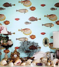 Fornasetti II 'Aquario' wallpaper