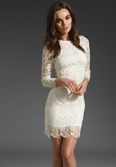 I love this lace dress. Probably for the bridal shower since lace is one of my fabrics for the wedding!
