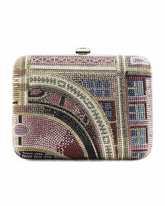 Ferry Terminal Rectangle Clutch Bag, Silver/Light Pink by Judith Leiber Couture at Bergdorf Goodman.
